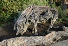 Tree Sculpture Pig