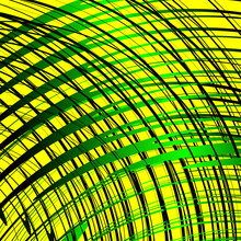 Rounded Colored Stripes On Bright Yellow Background