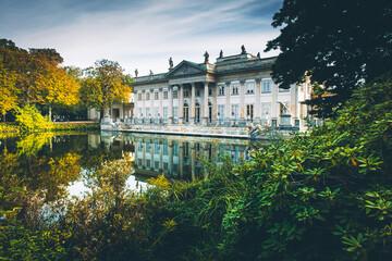 Łazienki Warszawskie - pałac na wodzie