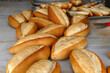 a large classic wood oven that bakes bread, wood oven and baked breads,