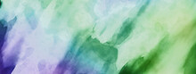 Watercolor Background, Abstract Colorful Painting