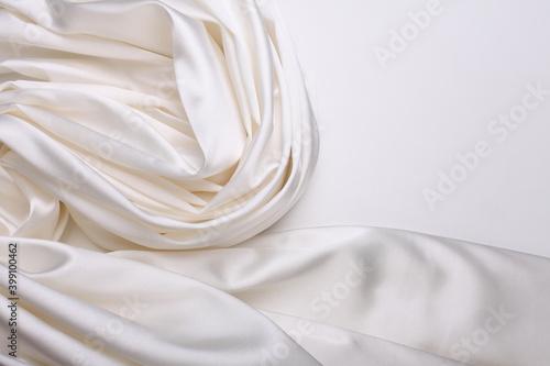 White wave silk fabric horizontal background Wallpaper Mural