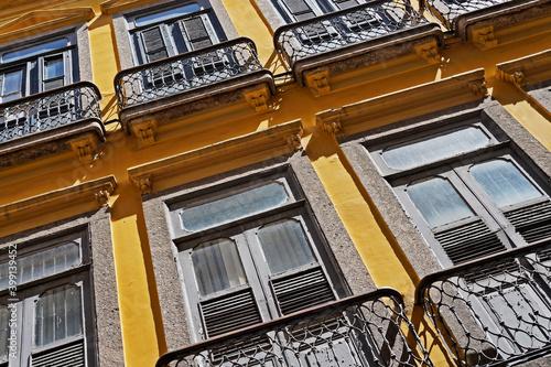 Photo Ancient facade, downtown Rio de Janeiro
