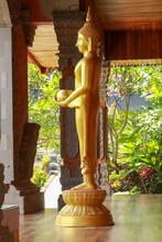 Beautiful Statue Of Golden Brahma, Bali, Indonesia