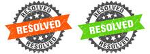 Resolved Band Sign. Resolved Grunge Stamp Set