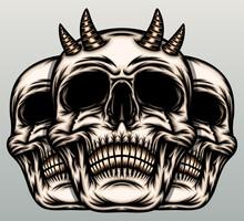 Skulls With Horn