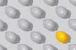 Seamless pattern Gray and yellow lemons in the color of the year 2021