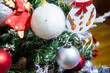 christmas tree with decorations, christmas tree decorations