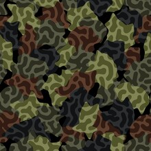 Digital Camouflage Seamless Pattern. Abstract Army Or Hunting Masking Ornament