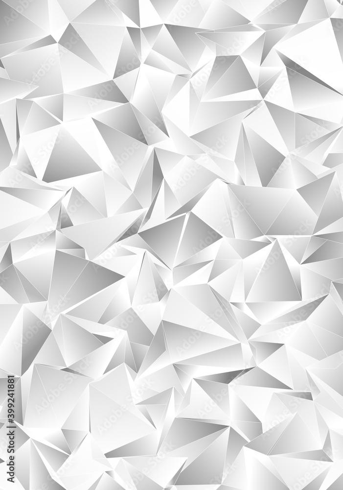 Fototapeta 3d Triangles, abstract  background. Design wallpaper.