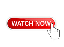 Watch Now, Great Design For Any Purposes. Illustration, Vector. Vector Background. Hand Click Icon.
