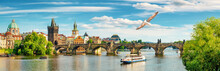 Tourist Boat In Prague