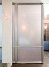 Glass Door In A Modern Building.