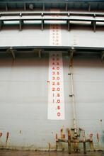 Depth Gauge On A Wall, Instrumenty Of Measurement.