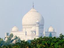 Taj Mahal Dome And Minarets.