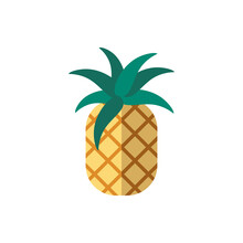 Pineapple Flat Icon. Color Simple Element From Summer Tourism Collection. Creative Pineapple Icon For Web Design, Templates, Infographics And More