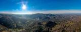 Fototapeta Na ścianę - Beskid Śląski widok na szczyt Czantorii z lotu ptaka, Śląsk, Polska