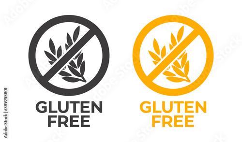 Fotografie, Obraz Gluten free vector icon