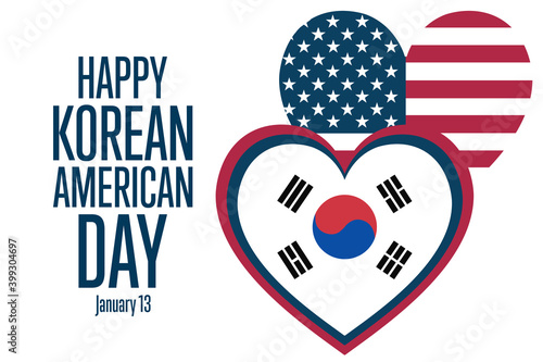 Canvas Print Korean American Day