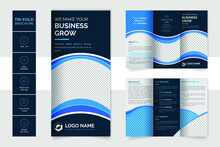 Tri Fold Corporate Brochure For Business And Advertising