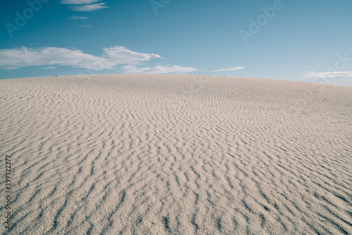Sandy dunes in White Sands National Park