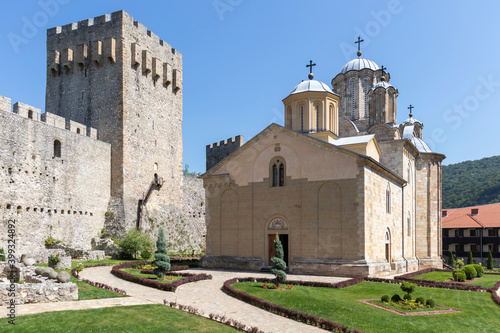 Valokuvatapetti Medieval Buildings at Manasija monastery, Serbia