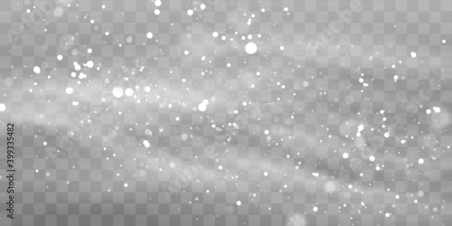 Carta da parati Vector heavy snowfall, snowflakes in different shapes and forms
