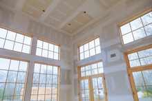 Construction Building Industry New Home Construction Interior Drywall And Finish Details
