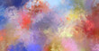 Abstract background of colorful brush strokes. Brushed vibrant wallpaper. Painted artistic creation. Unique and creative illustration.