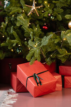 Gifts Placed Under Christmas Tree