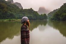 Man With Beard Contemplating The Nature