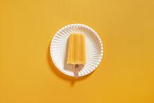 Natural Juicy Orange Popsicles