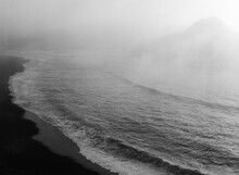 Wild Foggy Coastline On Film