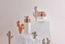 Set Of Natural Organic Cosmetics For Skincare