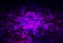 Dark Purple Vector Polygon Abstract Layout.