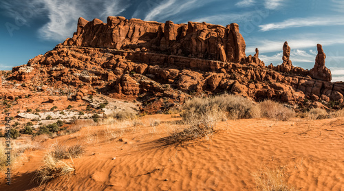 Canvas Print The Marching Men In The Klondike Bluffs, Arches National Park, Utah, USA