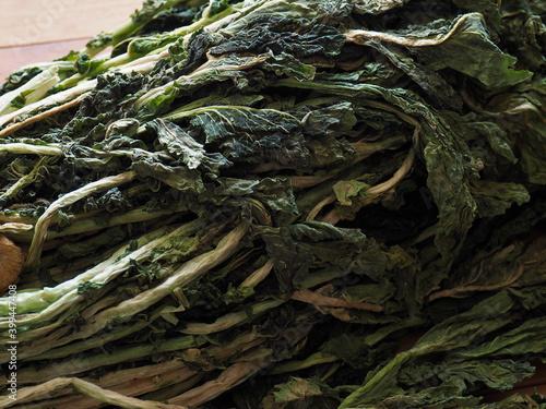 Photo 한국의 음식재료 시래기, 말린 무 잎