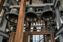 Carillon Bells, Saints Peter And Paul Is A Russian Orthodox Cathedral Landmark In St. Petersburg Russia.