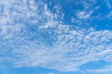 Mackerel Sky Or Buttermilk Sky Of Altocumulus Clouds