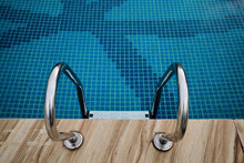 Top View Of Swimming Pool Handrails