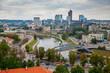 Cityscape with Vilnius downtown