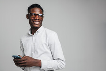 Handsome Smiling Young African Busines Man