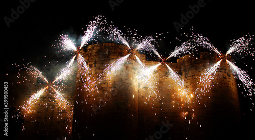 Fototapeta fuegos artificiales
