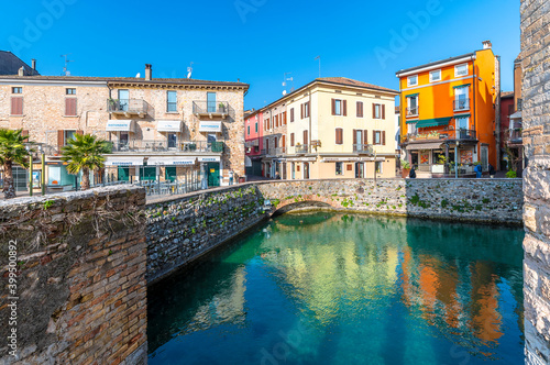 Tela Sirmione street  view in Italy.