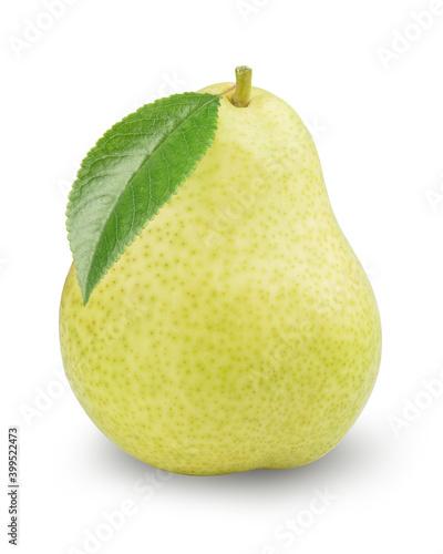 Fototapeta green pear isolated on white