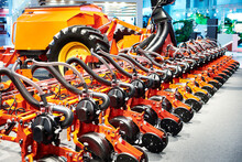 Seed Drills At Agricultural Exhibition