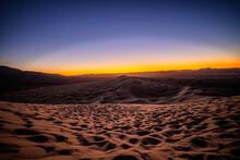 Sunset In Mojave Desert  Kelso Sand Dune