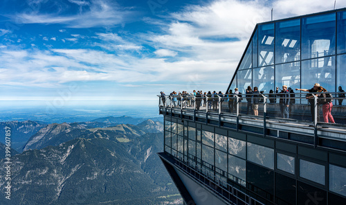 Fotografia, Obraz auf der Zugspitze in Bayern