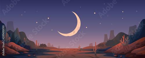 Photo Desert landscape background