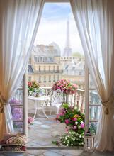 Window Flower Paris France Design